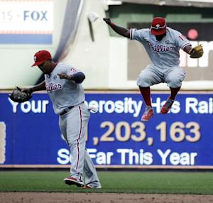 Phillies win 9-1 to finish 4-game sweep of Brewers