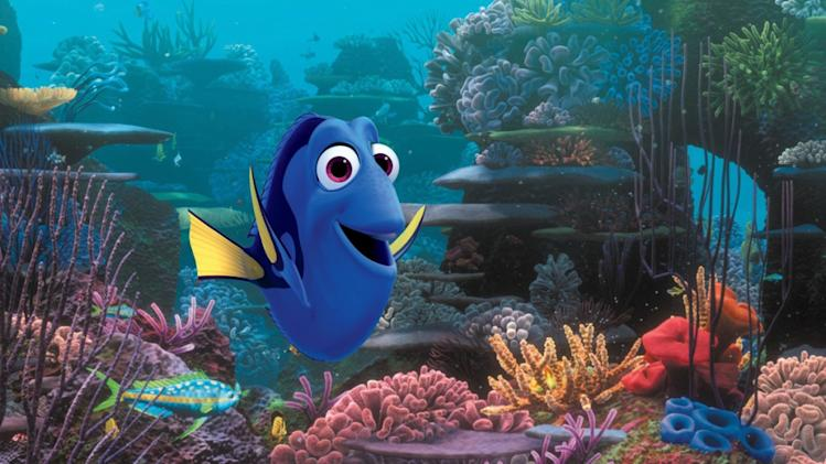 "This film image released by Disney Pixar shows the character Dory, voiced by Ellen DeGeneres. The character, first introduced in ""Finding Nemo,"" returns for the sequel, ""Finding Dory,""  set for release on Nov. 25, 2015. (AP Photo/Disney Pixar)"