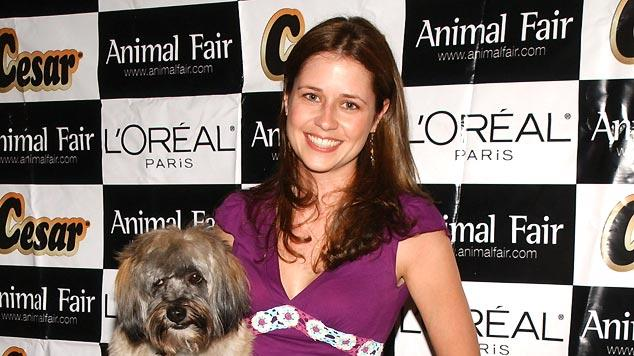 Jenna Fischer and dog