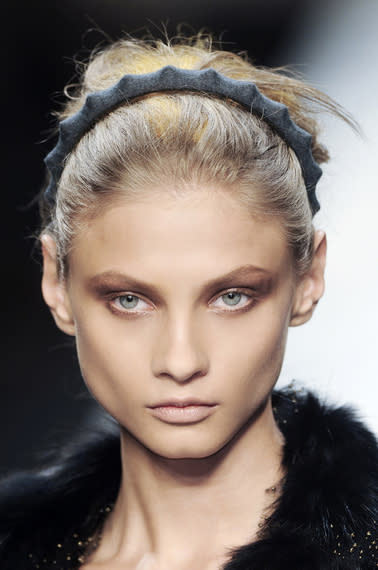 Fendi's Fall headband look is playful without being too young – definitely for the bride who…