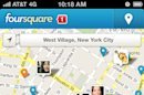 This undated screenshot provided by foursquare displays the foursquare mobile app. While Foursquare is best known for letting smartphone users tell others about the restaurants and other places they are at, the mobile app is getting a makeover that makes it easier for people to use it to find nearby places to go. (AP Photo/Foursquare)