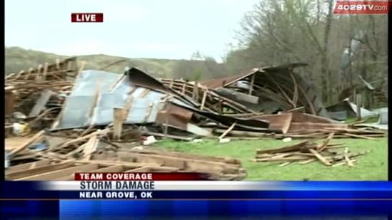 Tour the damage left behind in Grove, Okla.