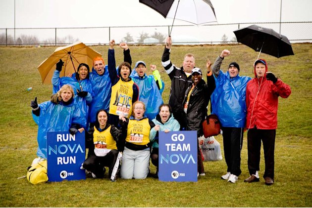 The NOVA runners at the Boston Marathon.