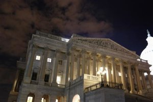 The U.S. House of Representatives remains fully lit …