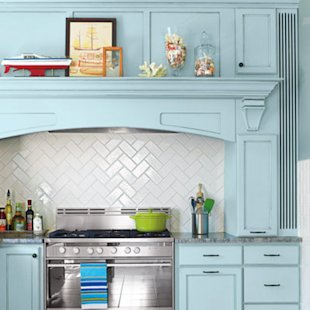 Subway-tile backsplash