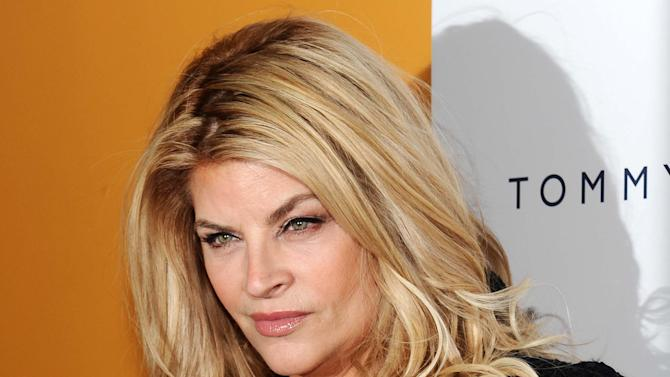 """FILE - This March 17, 2010 file photo shows actress Kirstie Alley at the premiere for the film """"The Runaways"""" at the Landmark Sunshine Theater in New York. ABC says an """"All-Star"""" edition of the competition show will bring back 12 former rivals including Pamela Anderson, Kristie Alley, and Bristol Palin. In a break from the past, viewers can vote online for the 13th contestant from three former contestants including actors Kyle Massey and Sabrina Bryan and celebrity stylist Carson Kressley. The celebrity dance competition series returns on ABC on Sept. 24. (AP Photo/Evan Agostini, file)"""