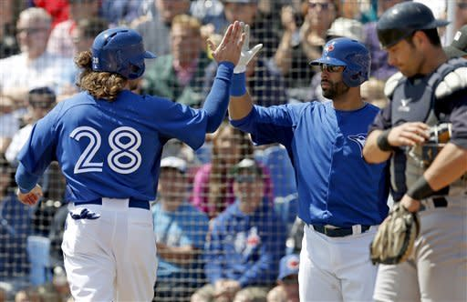 Johnson gets big support in Blue Jays' rout