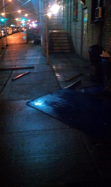Hurricane Sandy Turns New York Streets Dangerous with Falling Debris