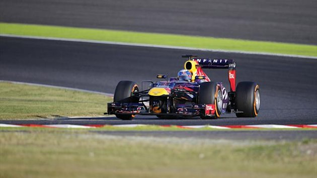 Red Bull Formula One driver Sebastian Vettel at Japanese Grand Prix