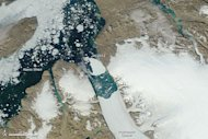 On July 31, a satellite showed the large iceberg had nearly reached the mouth of the fjord that houses Greenland's Petermann Glacier.