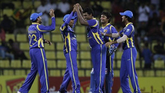Sri Lanka celebrate a wicket en route to defeating Pakistan in their second ODI