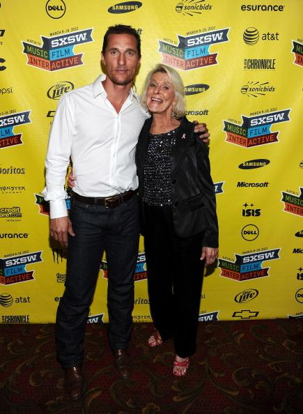 AUSTIN, TX - MARCH 14: Actor Matthew McConaughey (L) and mother Kay McConaughey attend the world premiere of 'Bernie' during the 2012 SXSW Music, Film   Interactive Festival at Paramount Theatre on March 13, 2012 in Austin, Texas.