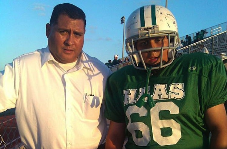 Cameron Espinosa (right) died of an allergic reaction to fire ants on the field -- Facebook