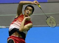 Taufik Hidayat of Indonesia during his Japan Open men&#39;s singles second round match against Akira Koga of Japan. Hidayat has revealed that he will retire next year, as he reached the quarter-finals at the Japan Open