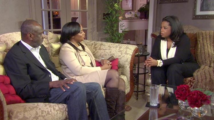"Oprah Winfrey with Patricia Houston and Gary Houston in Atlanta, Georgia as seen on ""Oprah's Next Chapter ."""