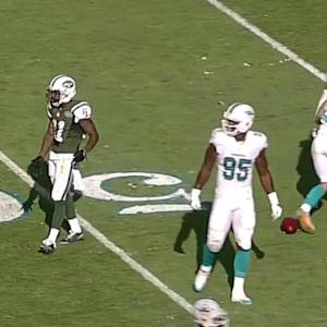 New York Jets wide receiver Jeremy Kerley snags 33-yard pass from Geno Smith