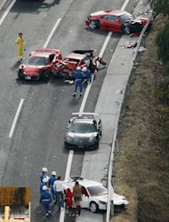Accidents Luxury Cars in Japan