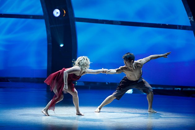 "All-Star partner Lauren Froderman and Marko Germar perform a Contemporary routine to ""Shirk,"" choreographed by Tessandra Chavez on ""So You Think You Can Dance."""