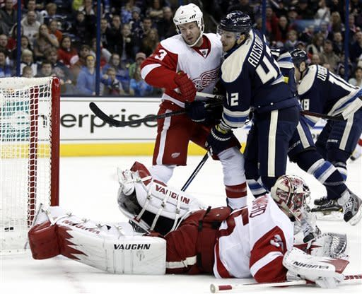 Anisimov scores 2, Blue Jackets top Red Wings 4-2