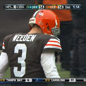 Cleveland Browns quarterback Brandon Weeden intercepted again
