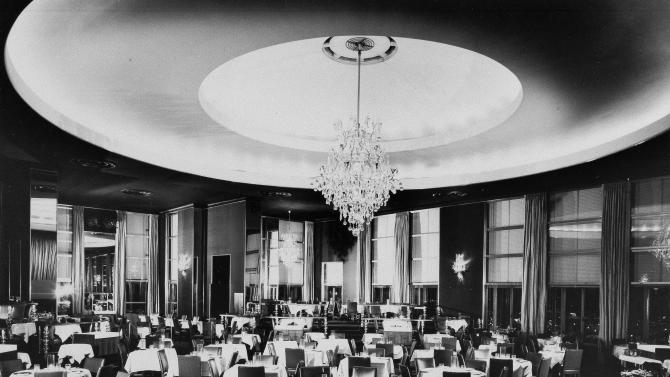 FILE - This undated file photo shows the Rainbow Room, located on the 65th floor of 30 Rockefeller Plaza in New York. Closed in 2009 amid a landlord-tenant dispute, the iconic club at Rockefeller Center will reopen in the fall of 2014. Tishman Speyer, which operates Rockefeller Center, made the reopening announcement on Tuesday, Sept. 17, 2013. (AP Photo, File)