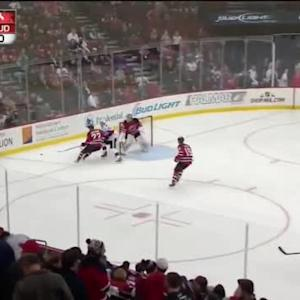 David Legwand Hit on Eric Gelinas (12:52/3rd)