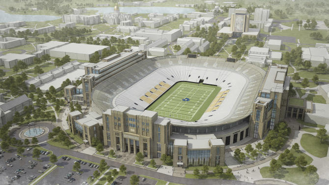 Notre Dame looks at adding on to football stadium