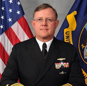 This image provided by the U.S. Navy shows Navy Vice Adm. Tim Giardina in a Nov. 11, 2011, photo. The Navy says a Giardina was notified Wednesday, Oct. 9, 2013, that he has been relieved of duty as second-in-command at the military organization that oversees all U.S. nuclear forces. Giardina will drop in rank to two-star admiral as a consequence of being removed from his position at U.S. Strategic Command. He is under investigation in a gambling matter. (AP Photo/U.S. Navy)