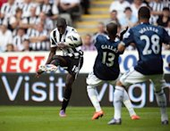 Demba Ba scores against Spurs earlier this season
