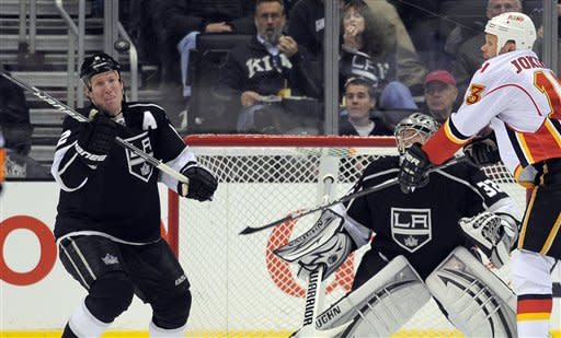 Flames beat Kings 2-1 in shootout