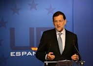<p>Spanish Prime Minister Mariano Rajoy gives a press conference on the final day of an EU summit in Brussels on October 19. Spain seems condemned to pay for its own banking rescue after Germany flatly refused to let the eurozone's future bank supervisor do so, analysts say.</p>