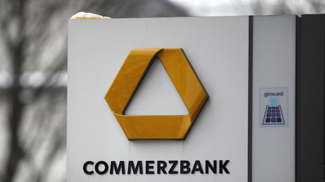File photo of the logo of Germany's Commerzbank at a branch in Dortmund