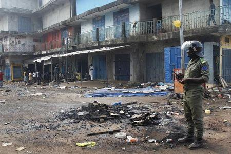 Pre-election clash in Guinea capital kills two, wounds 15