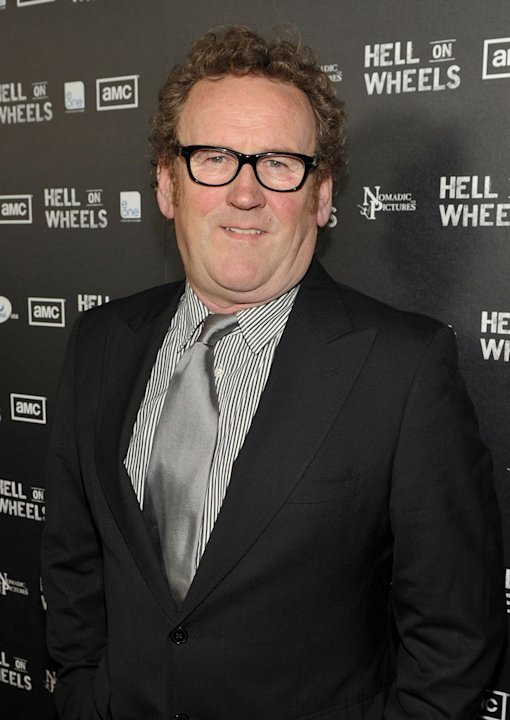 "Colm Meaney arrives at the premiere of AMC's ""Hell on Wheels"" at LA Live on October 27, 2011 in Los Angeles, California."