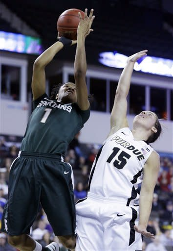 Purdue beats Spartans 62-47 for Big Ten title