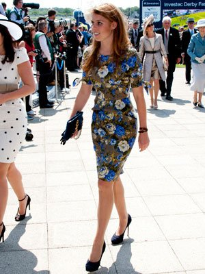 Princess Beatrice with a new slender form