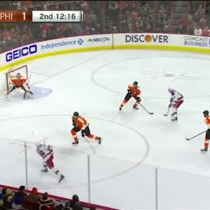 Steve Mason Save on J.T. Miller (07:45/2nd)