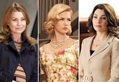 Ellen Pompeo, January Jones, Julianna Margulies | Photo Credits: RON TOM/ABC; AMC; David M. Russell/CBS