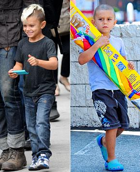 PIC: Kingston Rossdale, 5, Shaves His Head