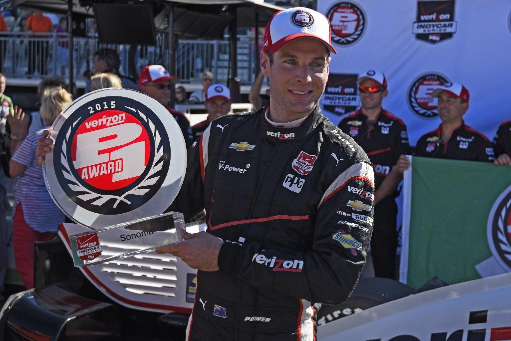 IndyCar champion Power on Sonoma pole with track record