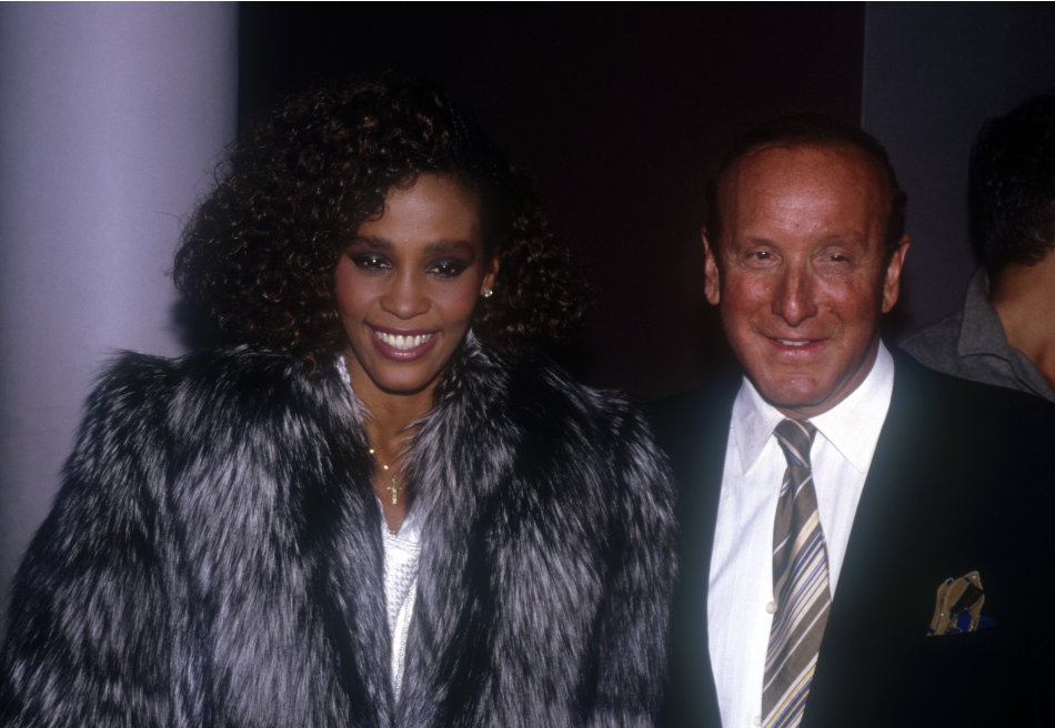 With Clive Davis in 1985