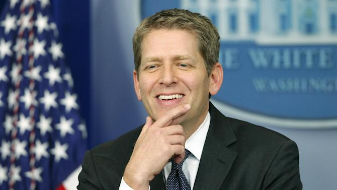 White House press secretary Jay Carney briefs reporters at the White House in Washington, Thursday, Jan. 31, 2013. (AP Photo/Charles Dharapak)