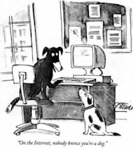 Mea Maxima Culpa Marketing image NY nobody knows youre a dog on the internet cartoon 300x334