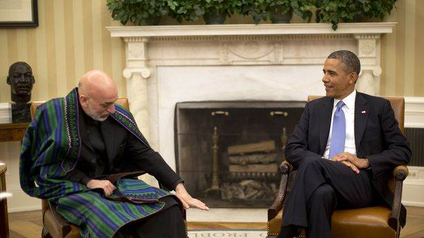 Watch: Presidents Obama and Karzai Talk
