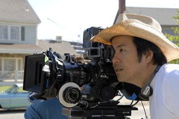 Director Justin Lin on the set of IFC Films' Finishing the Game