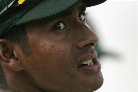 Mohammad Ashraful is seen during the fourth day of their first test cricket match against New Zealand in Chittagong