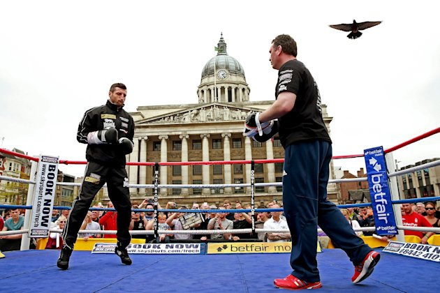 Carl Froch Media Work Out