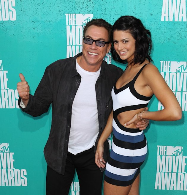 Jean-Claude Van Damme arrives at the 2012 MTV Movie Awards