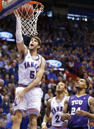No. 9 Kansas routs TCU 74-48 to avenge defeat