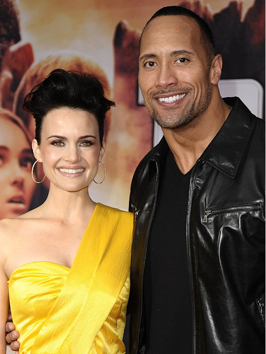 Race to Witch Mountain LA premiere 2009 Carla Gugino Dwayne Johnson